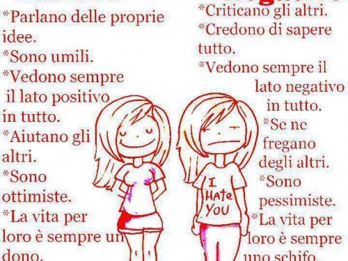 Differenze tra persone positive e quelle negative