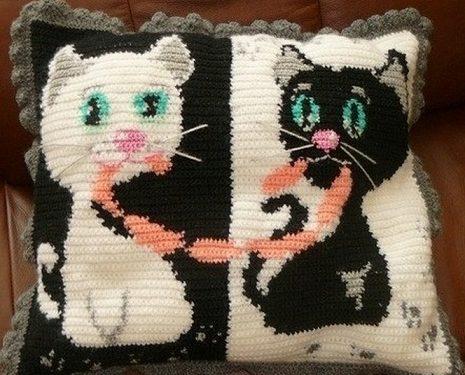 cuscino rappresentando dei gattini