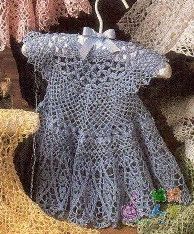 Meraviglioso Corpetto Alluncinetto Per Vestito Da Bimba
