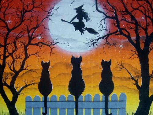 cartolina per l'occasione di halloween