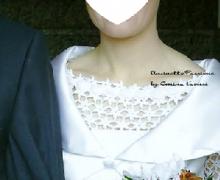 Corpetto per vestito da sposa e cappello