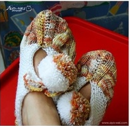 Pantofole bellissime e facilissime con i ferri