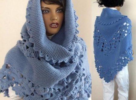 Meraviglioso scialle lavorato a maglia