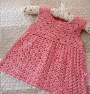 Bellissimo vestito rosa per bimba