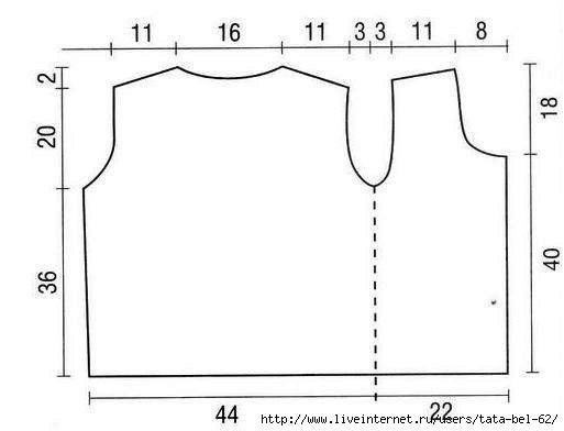 maglietta all'uncinetto con un punto relativamente facile
