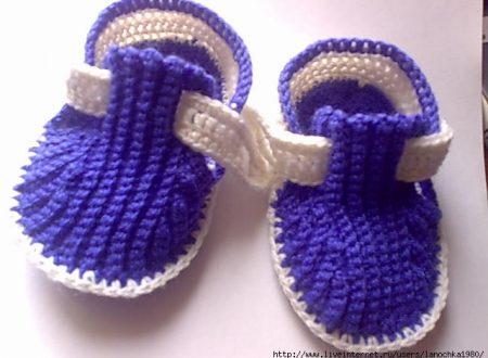 uncinetto: scarpine per bimbi
