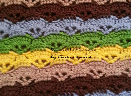 plaid con della lana di diversi colori