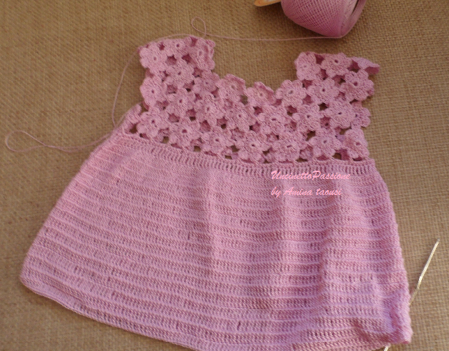 Popolare Vestito lilla da bimba | Uncinetto Passione VC83