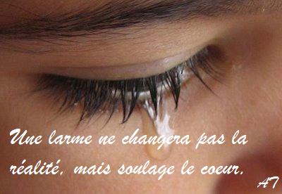 Une larme ne changera pas la réalité