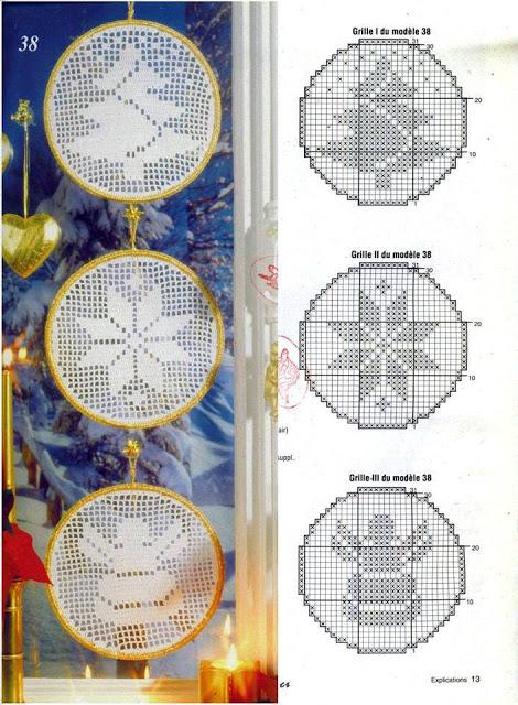 Piccoli centrini decorativi realizzati all'uncinetto