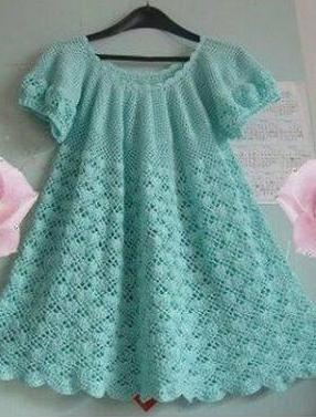 Meraviglioso Vestito Da Bambina Realizzato Alluncinetto