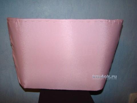 Borsa mare rosa all'uncinetto