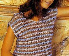 Bellissima maglietta all'uncinetto
