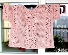 """Meravigliosa maglietta """"rosa confetto"""" all'uncinetto"""