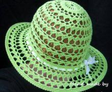 Meraviglioso cappello estivo all'uncinetto
