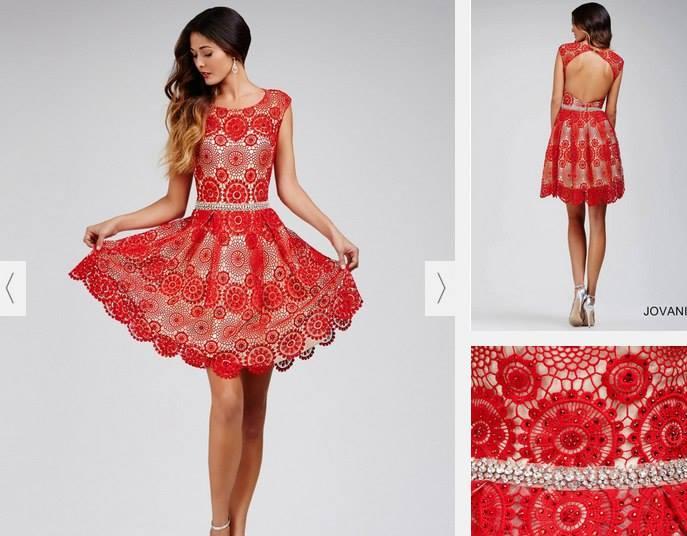 Favoloso abito rosso all'uncinetto