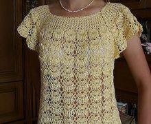 Meraviogliosa maglietta con punto conchiglia