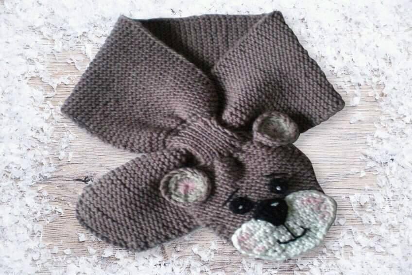 sciarpe per bambini rappresentando animali