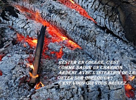 Rester en colère,c'est commesaisir un charbon ardent