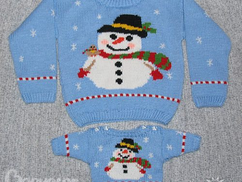 maglione per bimbi con disegno in jacquard