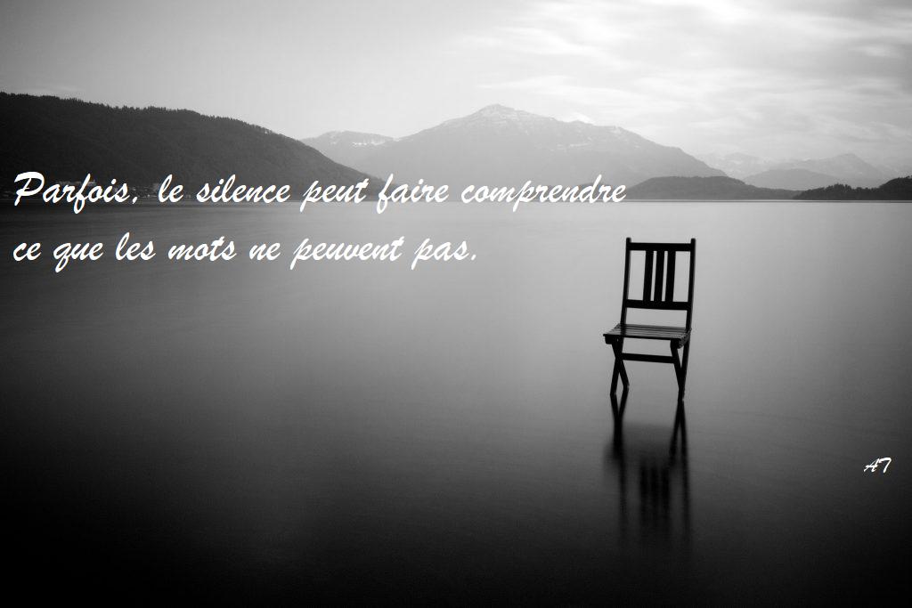 Parfois, le silence peut faire comprendre