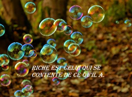 Riche est celui qui se contente
