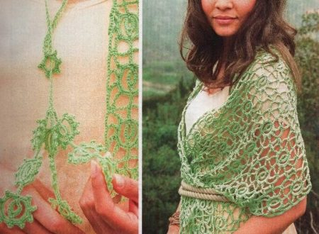 Bellissimo scialle in verde sfumato