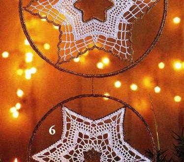 stelle per decorazioni da realizzare all'uncinetto