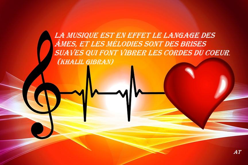 La musique est en effet le langage des âmes