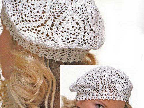 Meraviglioso cappello all'uncinetto per l'estate