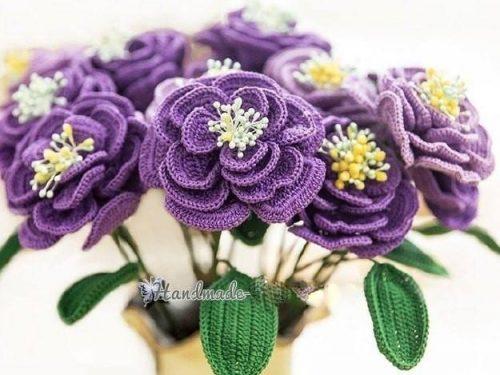 Favolosi fiori all'uncinetto.