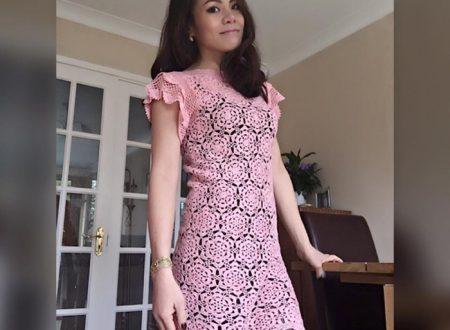abito rosa composto da moduli