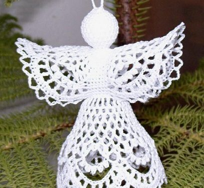 Angelo per le decorazioni natalizie