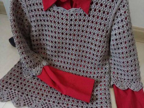 maglietta all'uncinetto con un punto favoloso