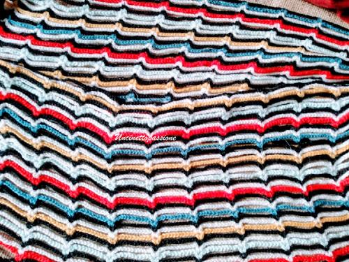 Sciarpa multicolore facilissima