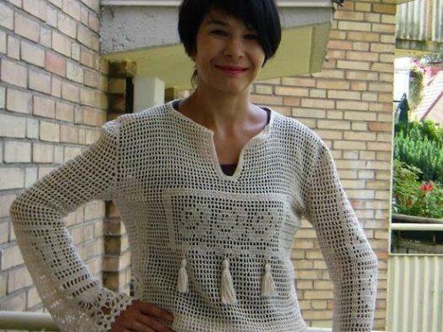 Bellissima e origonale maglietta a filet
