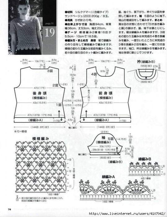 Maglietta classica con effetto merlettato